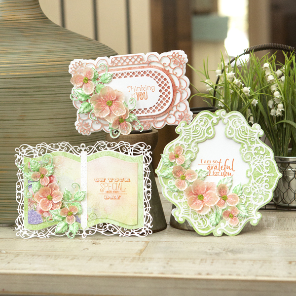 _Delicate Vellum Floral Shaped Cards