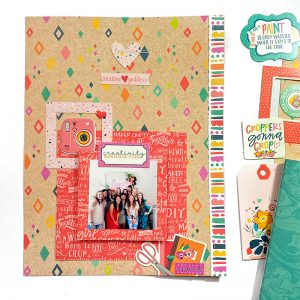 Crafty Girls Scrapbook Layout Keep It Simple Paper Crafts