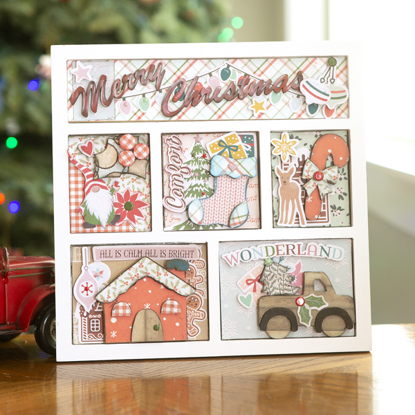 _Merry Christmas Wooden Shadow Box