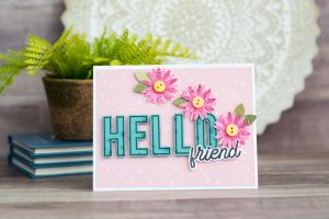 Hello Friend card - Back to Basics Collection