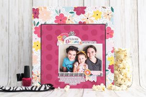 Follow Your Dreams Layout - Pajama Party Collection - Keep It Simple