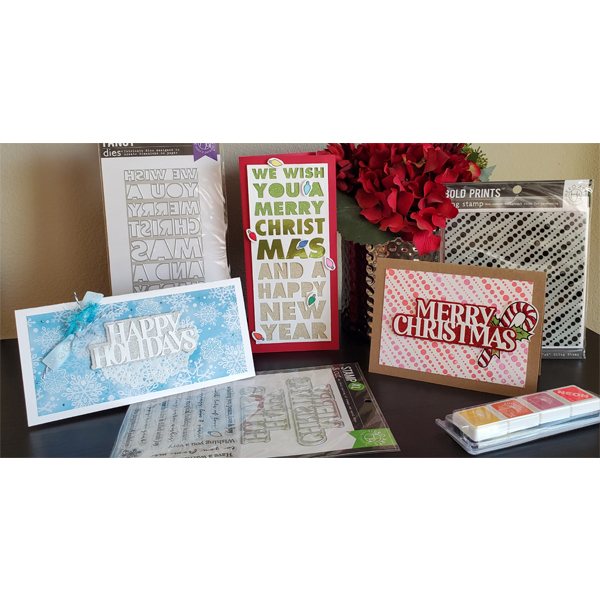 _3 Holiday Cards with All the Stamps & Dies!