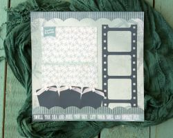 A to Z Scrapbooking Smell The Sea 12x12 Layout